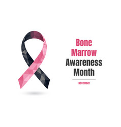 Bone marrow awareness month november concept web vector
