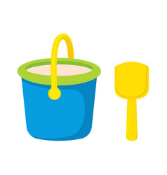 bucket and spade isolated vector image
