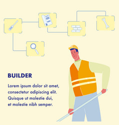 builder poster template with text space vector image