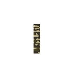 camouflage logo letter i vector image
