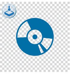 Cd disc icon vector