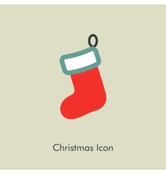 Christmas socks icon vector image