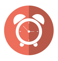 clock time alarm hour shadow vector image
