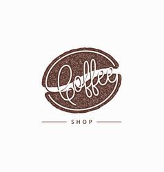 Coffee bean aroma logo on white background vector