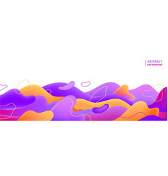colorful geometric background fluid vector image