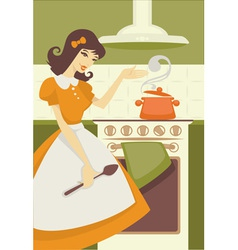 Cooking mom vector