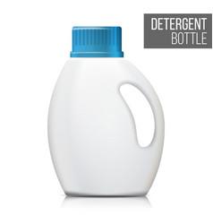 Detergent bottle realistic mock up white vector