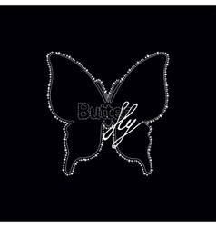 Diamonds butterfly with text logo vector image