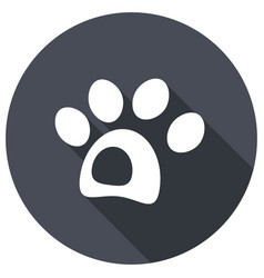 dog icon with a long shadow vector image