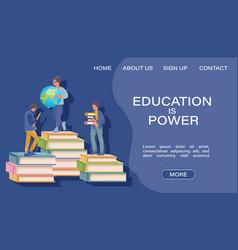 education program flat style kids on books vector image