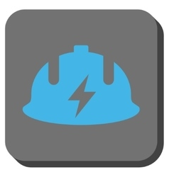 Electrician Helmet Rounded Square Button vector