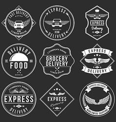 express delivery label and badges design elements vector image