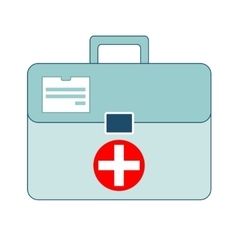 first aid box on white background vector image