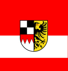 Flag of middle franconia in bavaria germany vector