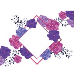 flower arrangement frame vector image