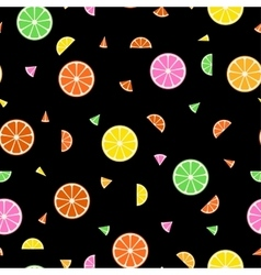 Fruit seamless pattern in memphis style vector