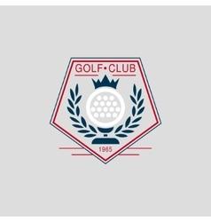 Glof Club Label vector image