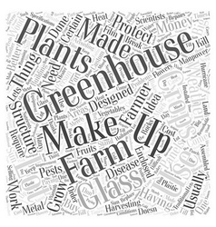 Greenhouse structure Word Cloud Concept vector