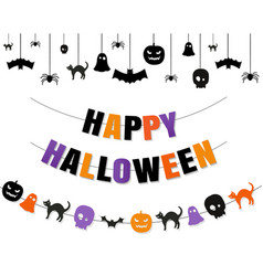 Halloween border with isolated transparent vector