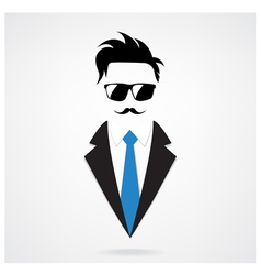 Hipster character for businessman vector
