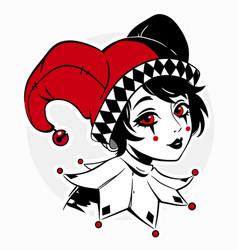 image a beautiful joker girl vector image