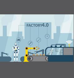 Industrial internet of things vector