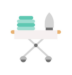 Iron and ironing board cleaning and laundry vector