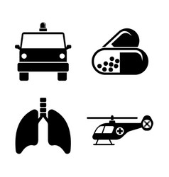 medicine simple related icons vector image