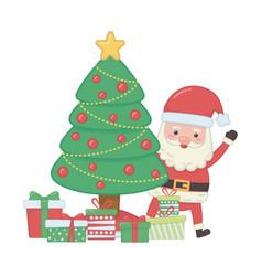 merry christmas santa claus design vector image