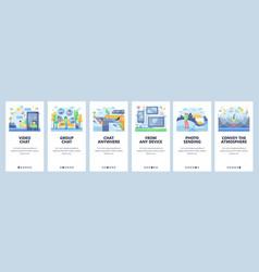 messaging website and mobile app onboarding vector image
