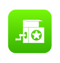 music box icon digital green vector image