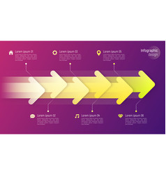 paper style timeline infographic concept with vector image