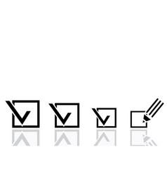 Pencil and a checklist vector image