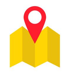 pinpoint on map flat icon geolocation vector image