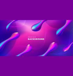 purple liquid color background design futuristic vector image