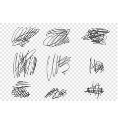 Random undigested scribbles vector