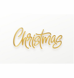 realistic 3d inscription merry christmas isolated vector image