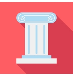 Roman pillar icon flat style vector image