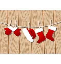 Santas clothes vector