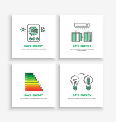 Save energy home vector