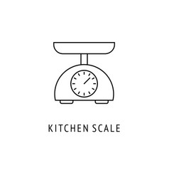 scale kitchen appliances icon vector image