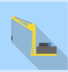 Sea port crane icon flat style vector