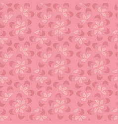 Seamless pattern with pink leaves vector