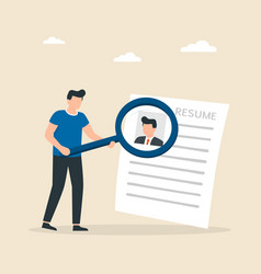selection candidates for a job recruitment vector image