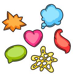 set cartoon speech bubbles fashion symbol in vector image