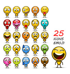 set of emoji vector image
