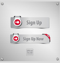 sign up buttons vector image