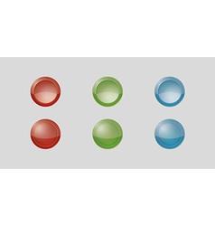Six gray badges vector