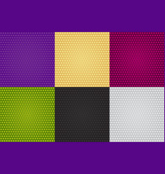 six seamless colorful patterns of fine gradient vector image