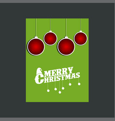 snowman merry christmas green background vector image